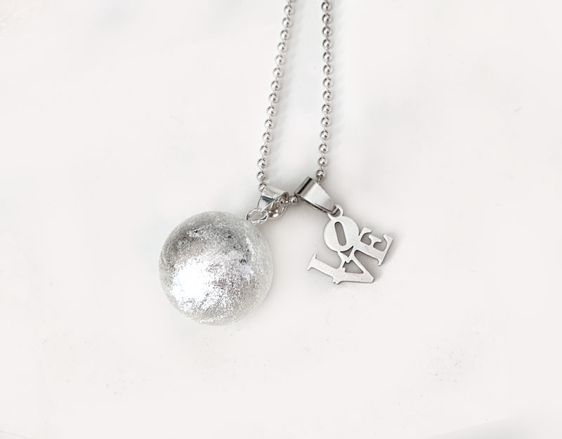 bushed silver harmony ball love charm