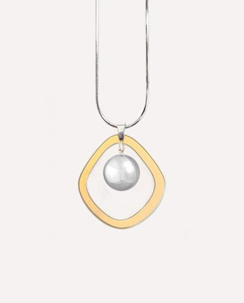 halo matte gold hamony ball necklace modern pendant