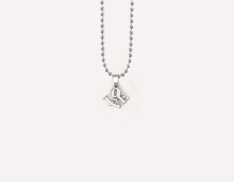 love letters cutout charm stacked