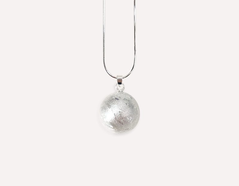 silver textured harmony ball brushed metal imogen