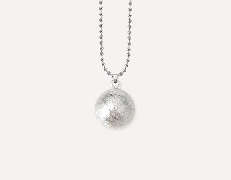 sparkle bushed silver metal harmony ball