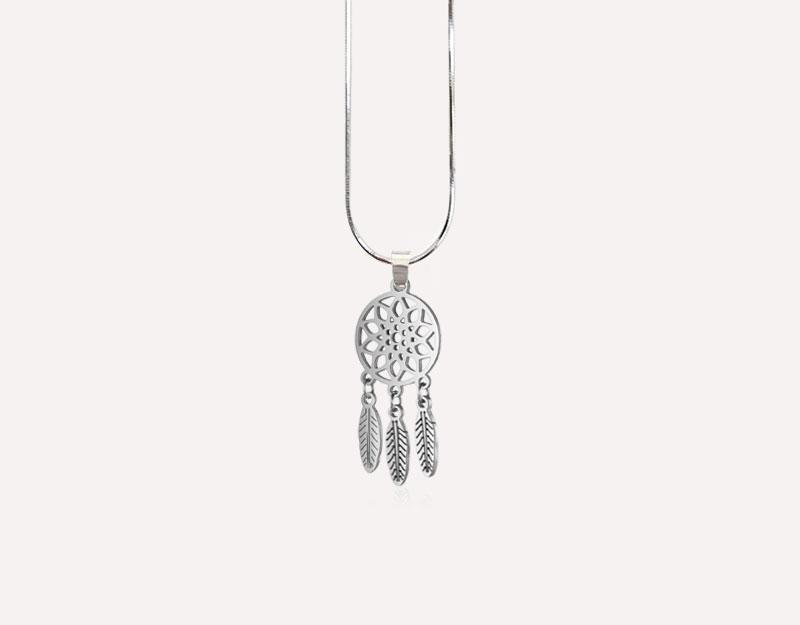 dreamcatcher charm silver spiritual positive energy
