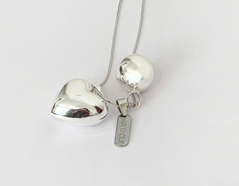 silver miracle charm pendant necklace baby shower gift