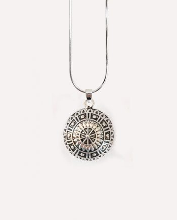 mandala pendant antique silver harmony ball