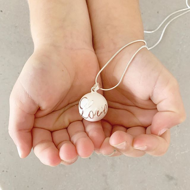 white harmony ball pendant pure love bebe bola