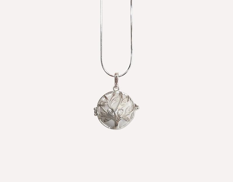 tree of life necklace pendant harmony ball chime