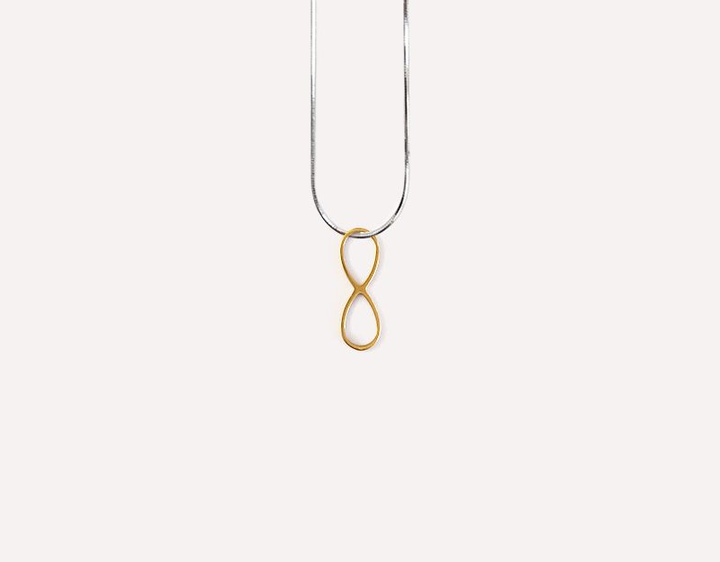 gold infinity charm necklace pendant