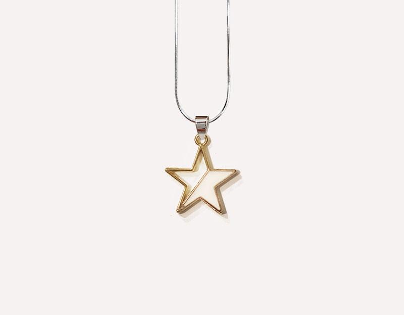 duotone star pendant white