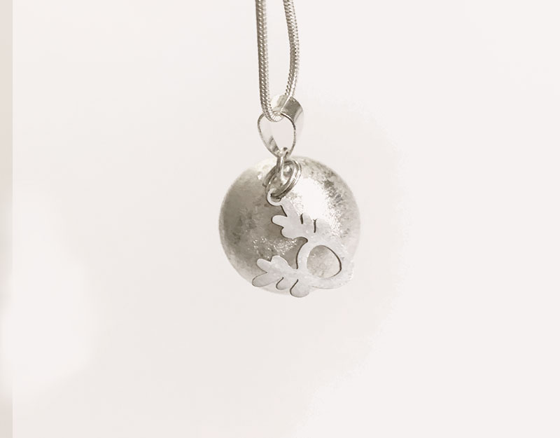 silver reindeer christmas charm with pendant necklace
