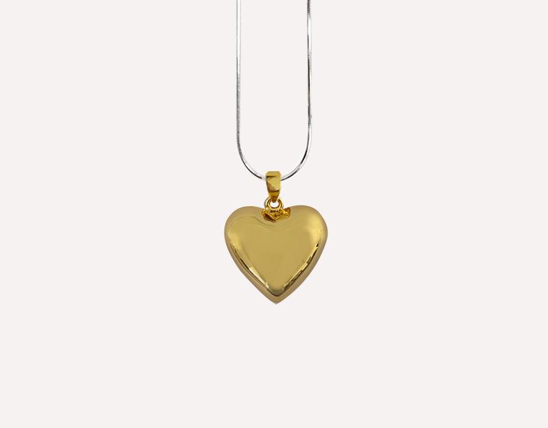 gold heart harmony ball pendant