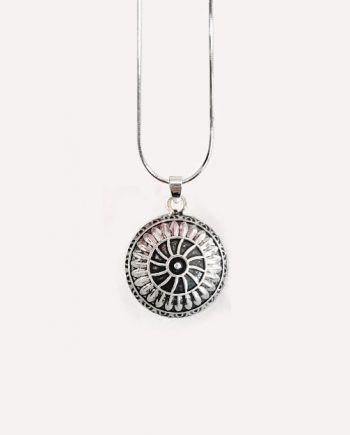 spiral mandala pendant necklace