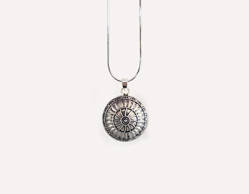 spiral mandala pendant necklace light