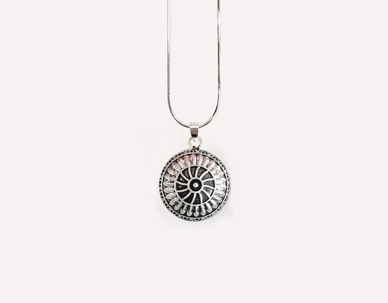 spiral mandala pendant necklace