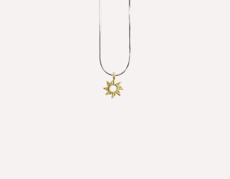 sun pendant gold necklace